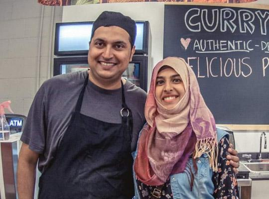 Nazir and Afiya of Curry Delight