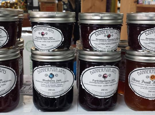 bottles of Bannerman Jam at Food for Thought