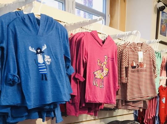 selection of Newfoundland  kids shirts sold at the Heritage Shop