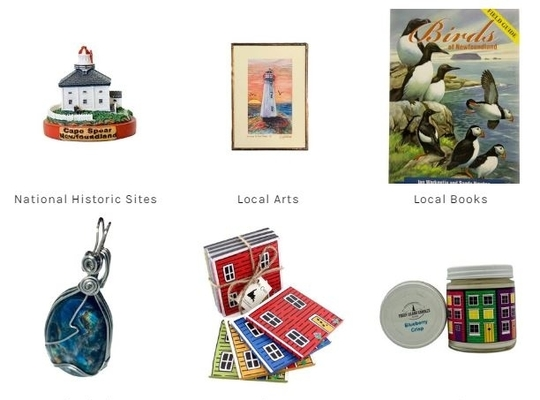 online shop offerings from the Heritage Shop - books, art, craft, souvenirs, labradorite, clothing and more