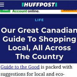 HuffPost 'Great Canadian Guide to Shopping Local