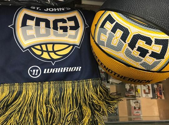 St. John's edge logo basketball and scarf