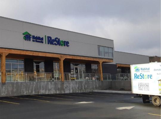 the outside of the Restore