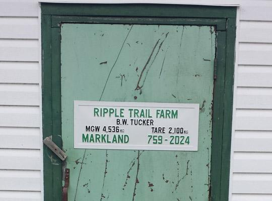 green door with Ripple Trail Farm