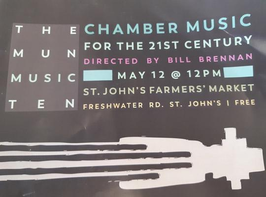 signage for Chamber Music community event