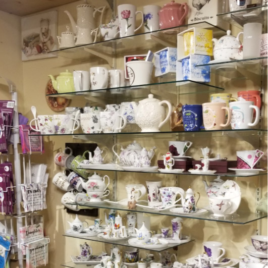 This store has always been known for gifts – like these lovely china sets and mugs,
