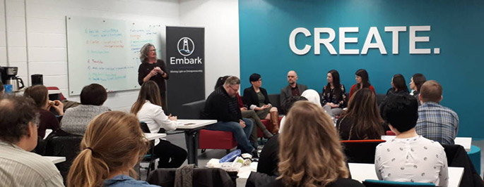 it was a full house at the #Business for Good panel conversation, at Memorials Centre for Entrepreneurship March 21, 2018