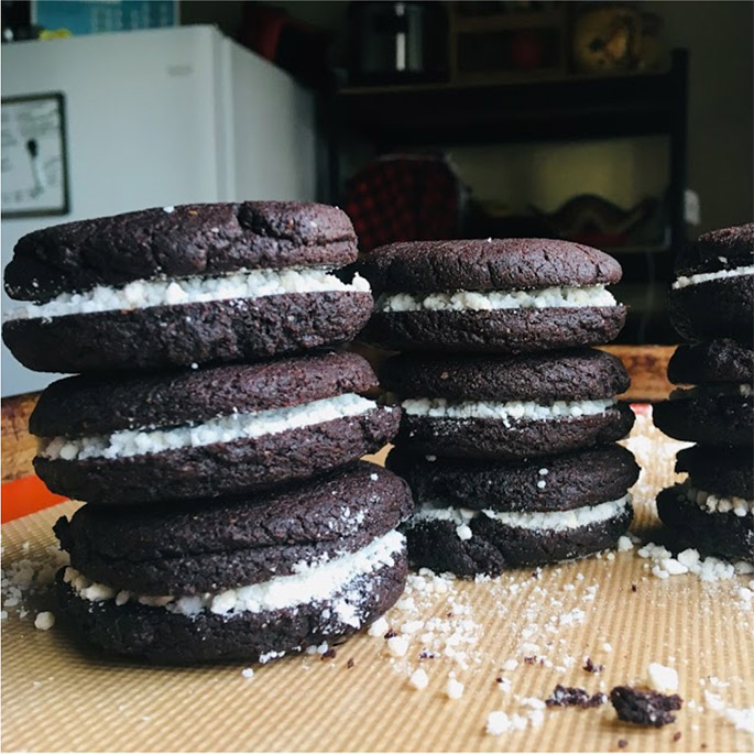 Viviana wanted Oreos without the plastic packaging so she learned how to bake Oreos!