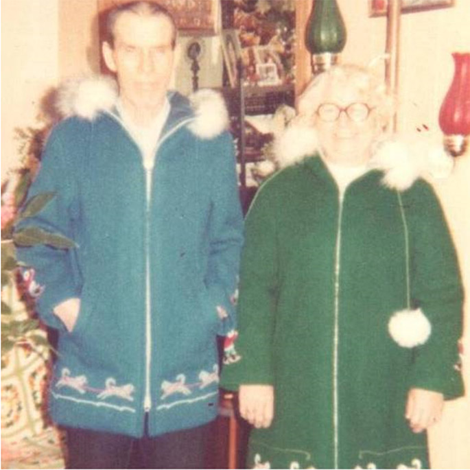 Marilyn Bessey's parents in their new winter coats, circa 1980s. Marilyn Bessey photo
