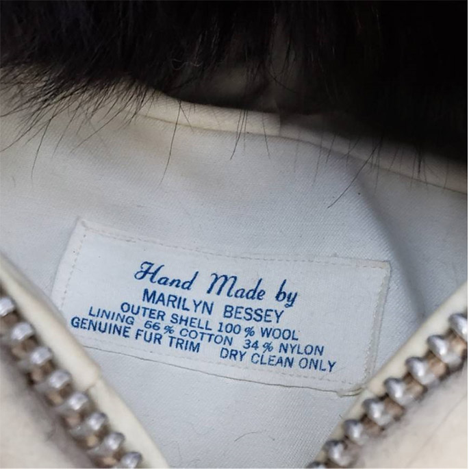 Eventually, every Marilyn Bessey coat had its own label. Bobby Bessey photo