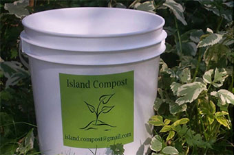 compost bucket from Island Compost